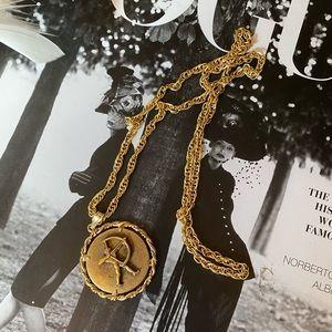 Vintage - Anson Pewter Pendant & Chain